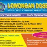 Lowongan Dosen Industri & Geologi IST Akprind