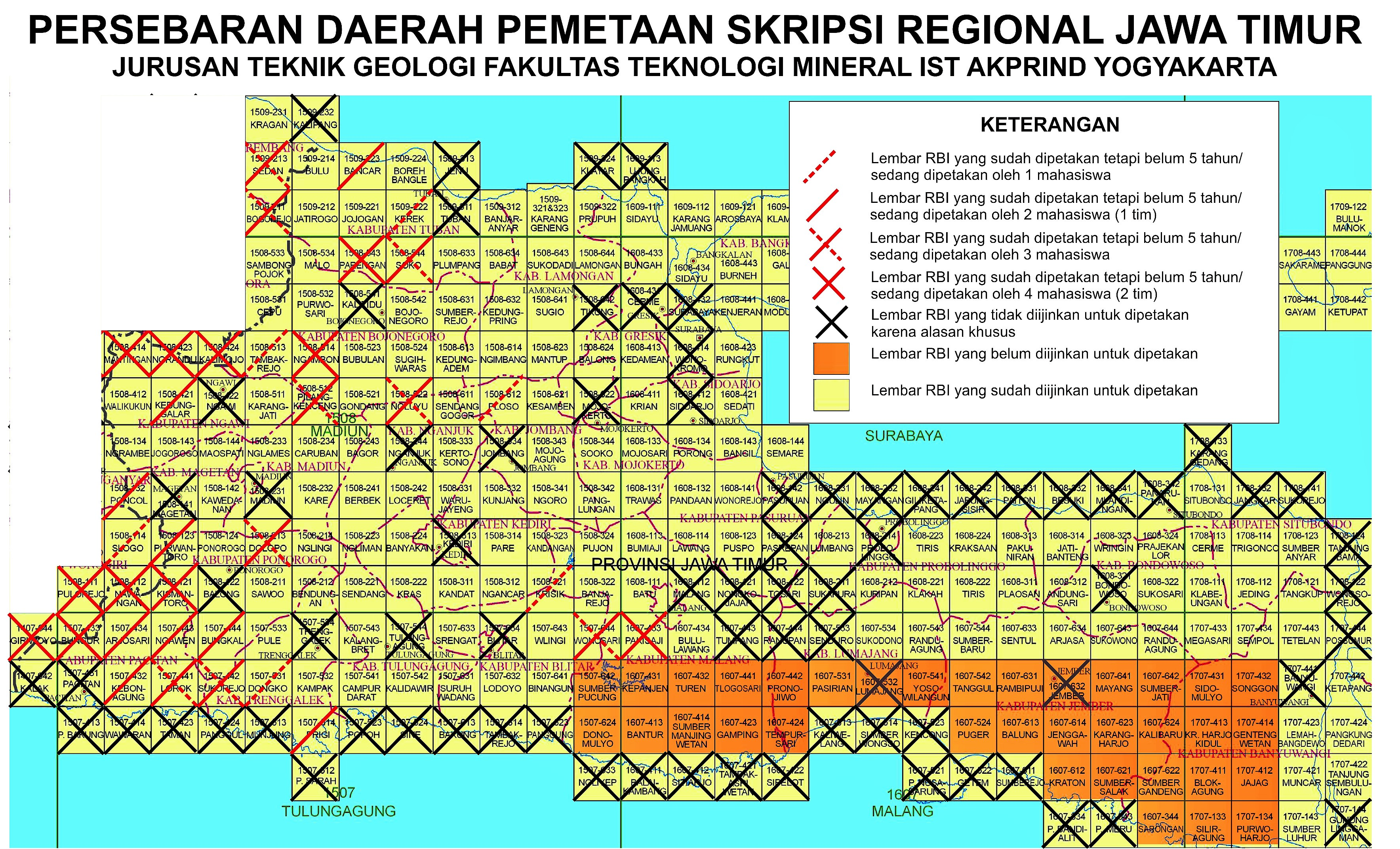 Peta Lokasi Skripsi 2019-03 Jatim - Jurusan Teknik Geologi IST AKPRIND