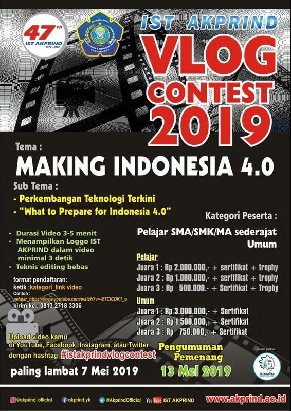 VLOG CONTEST 2019 IST AKPRIND Yogyakarta