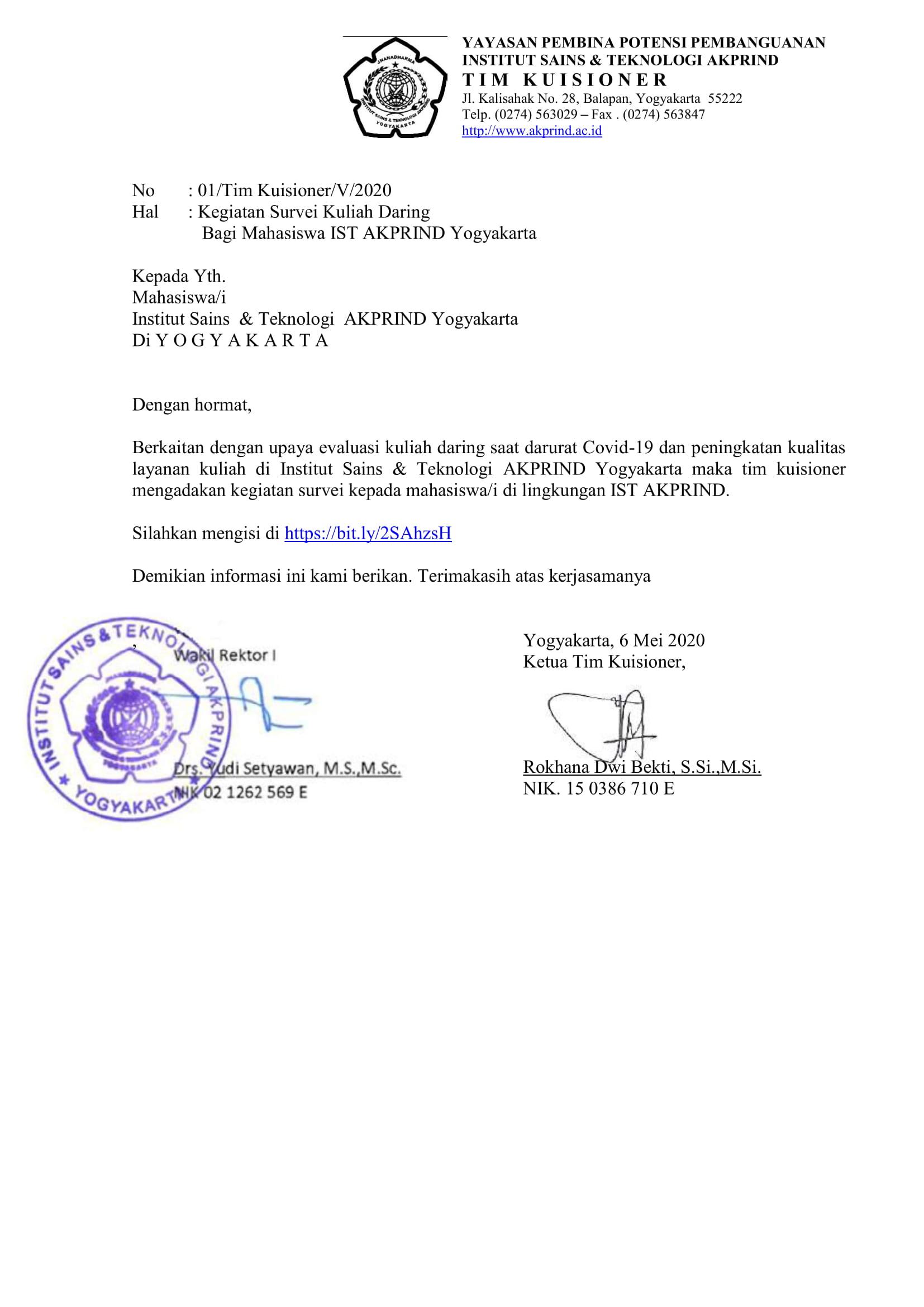 surat kuisioner kuliah daring covid-19 - Mahasiswa-1
