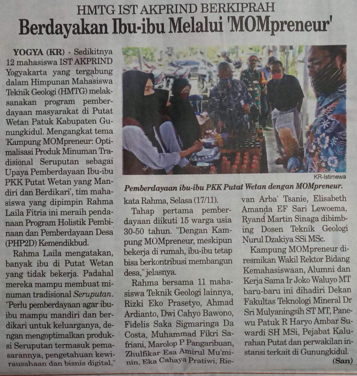 HMTG IST AKPRIND Yogyakarta BERKIPRAH